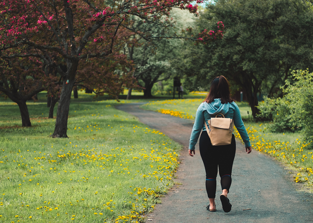 walking to combat anxiety